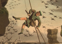 scotland-bird-catching-from-above.-net.-rope-edward-orme-old-print-1814-165479-p